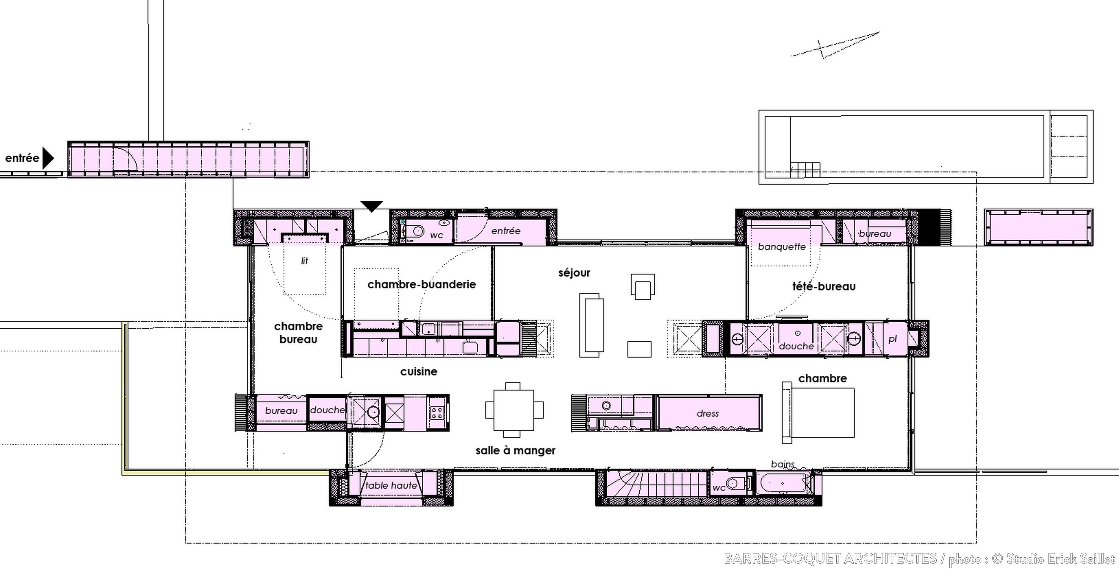 Maison Moderne Aves Des Coffres De Bois, Barrès Coquet Architectes   Côté  Maison