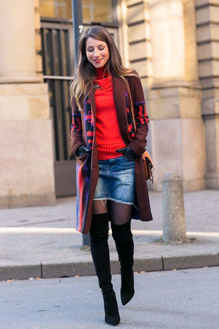 Etro Mix :: Jeansrock & Overknees   Over the knee boots ...