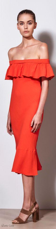 orange dress @roressclothes closet ideas women fashion outfit clothing style apparel Veronica Beard Spring 2016 RTW