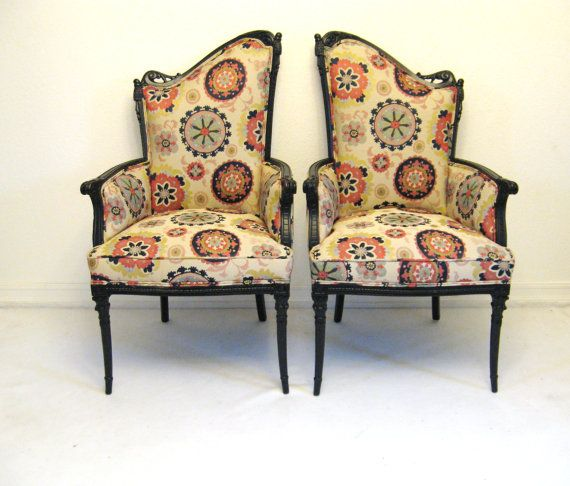 Vintage HOLLYWOOD REGENCY Pair of VICTORIAN Style by fabulousmess