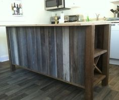 reclaimed wood island surround - Google Search | Gladney | Pinterest ...