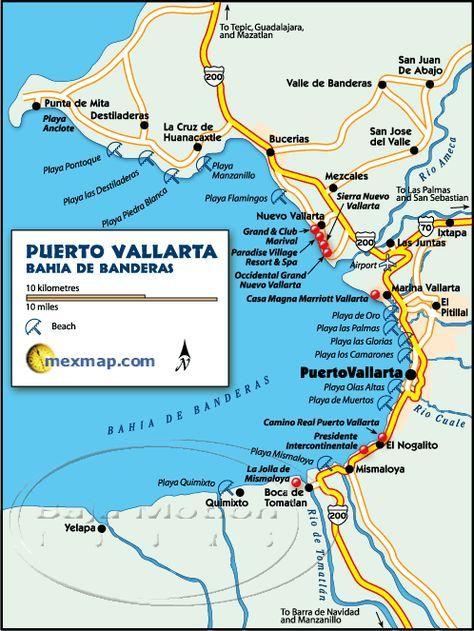 puerto vallarta mexico maps
