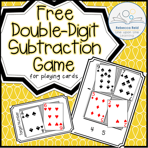 picture about Subtraction With Regrouping Games Printable titled Double-Digit Subtraction Card Recreation figures toward 100 Math