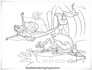 Barbie In A Mermaid Tale Coloring Pages  Coloring Pages