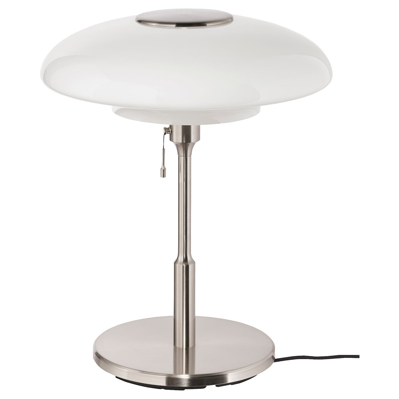 Tallbyn Table Lamp With Led Bulb Nickel Plated Opal Glass Ikea In 2020 Lamp Led Bulb Table Lamp