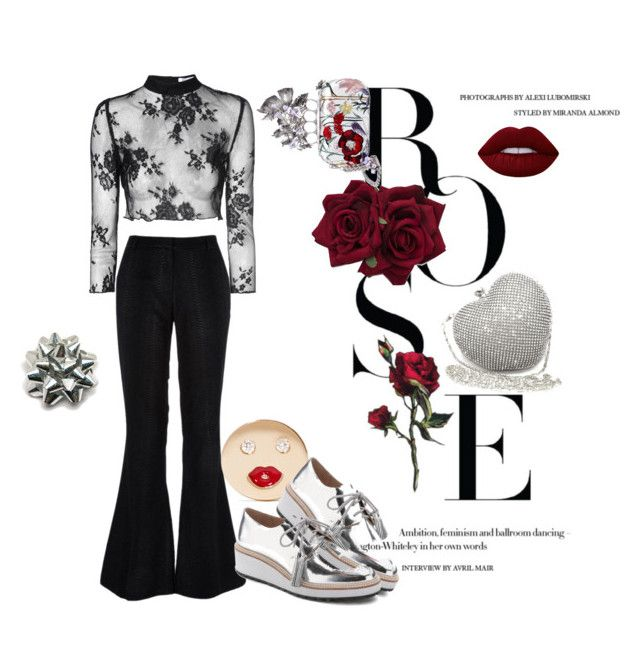 """Rose"" by crownedperfection on Polyvore featuring Alison Lou, Glamorous, Loeffler Randall, Posh Girl, Alexander McQueen, Lime Crime, women's clothing, women, female and woman"