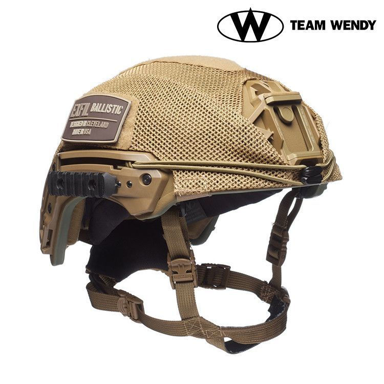 Team Wendy EXFIL Ballistic Mesh Helmet Cover - Coyote Brown