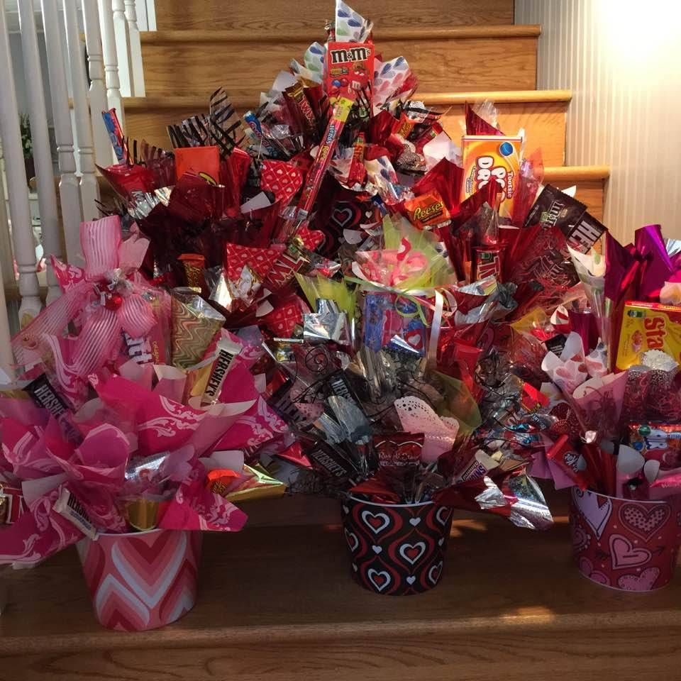 A Business Of Your Own With Images Valentine Gift Baskets Candy Bouquet Valentine Baskets