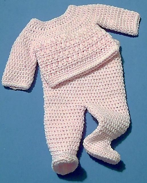 Footed Trousers And Jumper Set Pattern On Craftsy Com 3