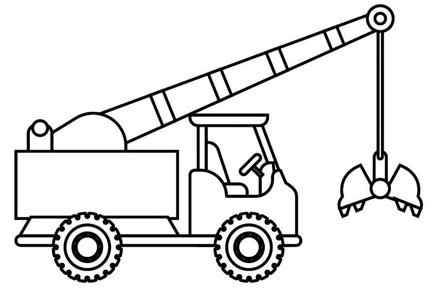 Fun Crane Truck Coloring Picture Truck Coloring Pages Truck Cranes Coloring Sheets