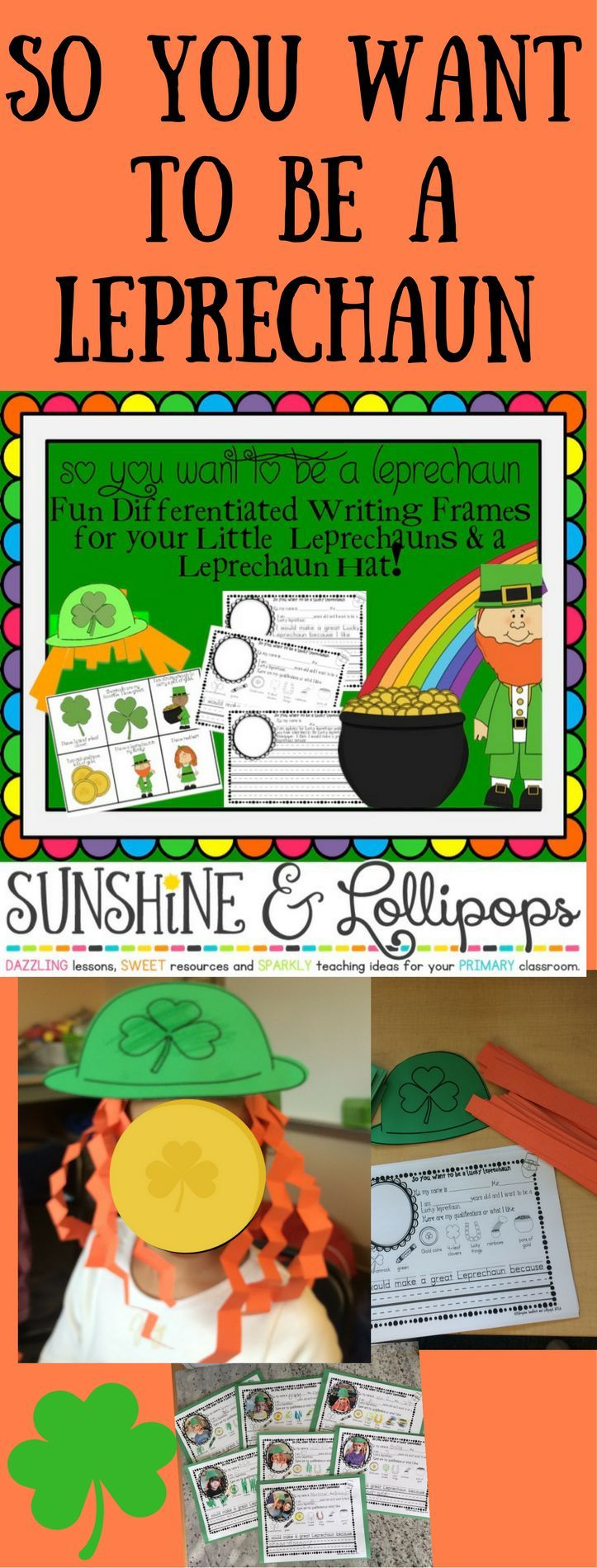 st patrick s day craft and differentiated writing frames for k  differentiated writing frames to show your