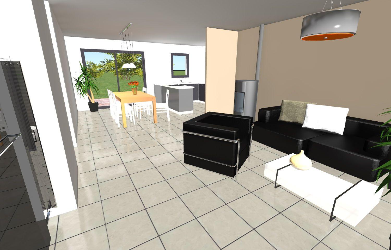 Décoration intérieure du modèle de maison \