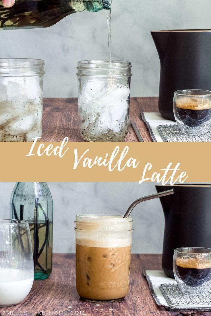 Iced vanilla latte recipe in 2020 vanilla latte latte