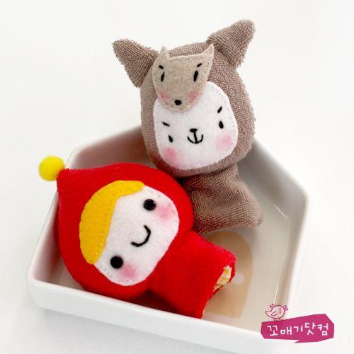 꼬매기닷컴 :: My lovely Handmade-DOLL & DIY - 빨강망토 손가락인형 만들기 패키지