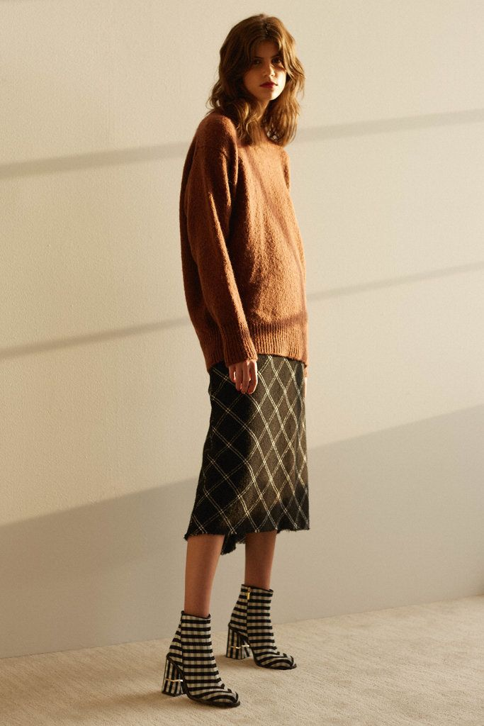 We love this rusty colored sweater from Tibi's Pre-Fall collection.