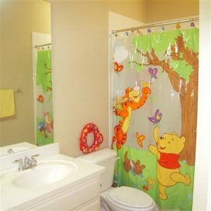 Winnie The Pooh Bathroom Shower Curtain With Images Kid