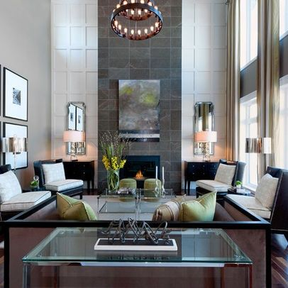 How to decorate a living room with high ceilings high Living room with high ceilings decorating ideas
