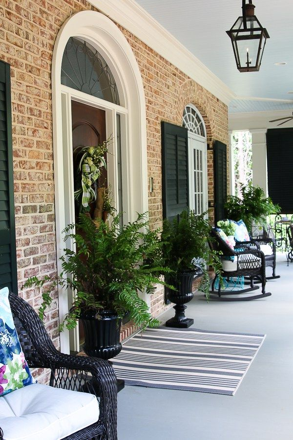 Ideas For Southern Outdoor Living Welcome To This Large Front Porch And Backyard Terrace Area