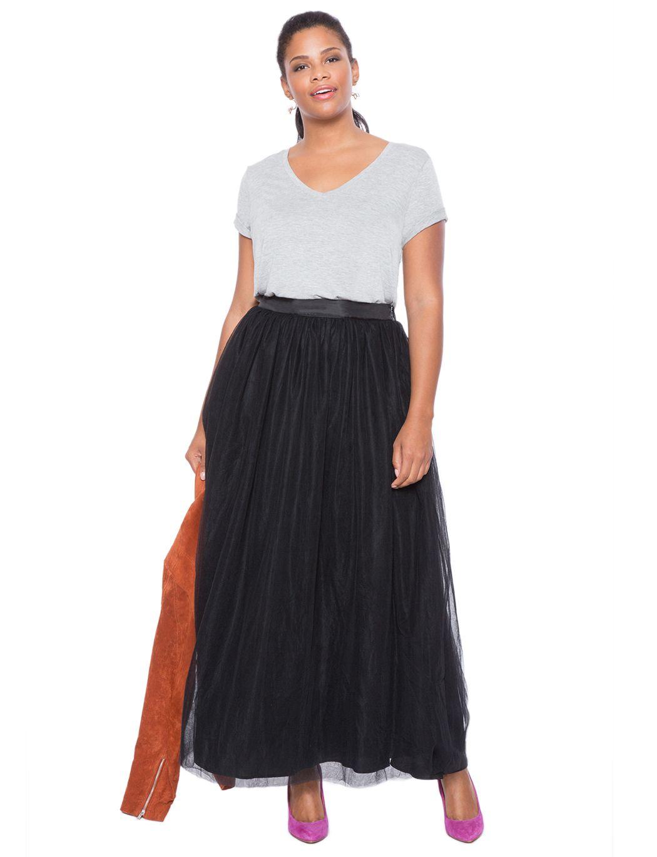 d34bf01f1 Studio Tulle Maxi Skirt   Women's Plus Size Tops   ELOQUII   Full on ...