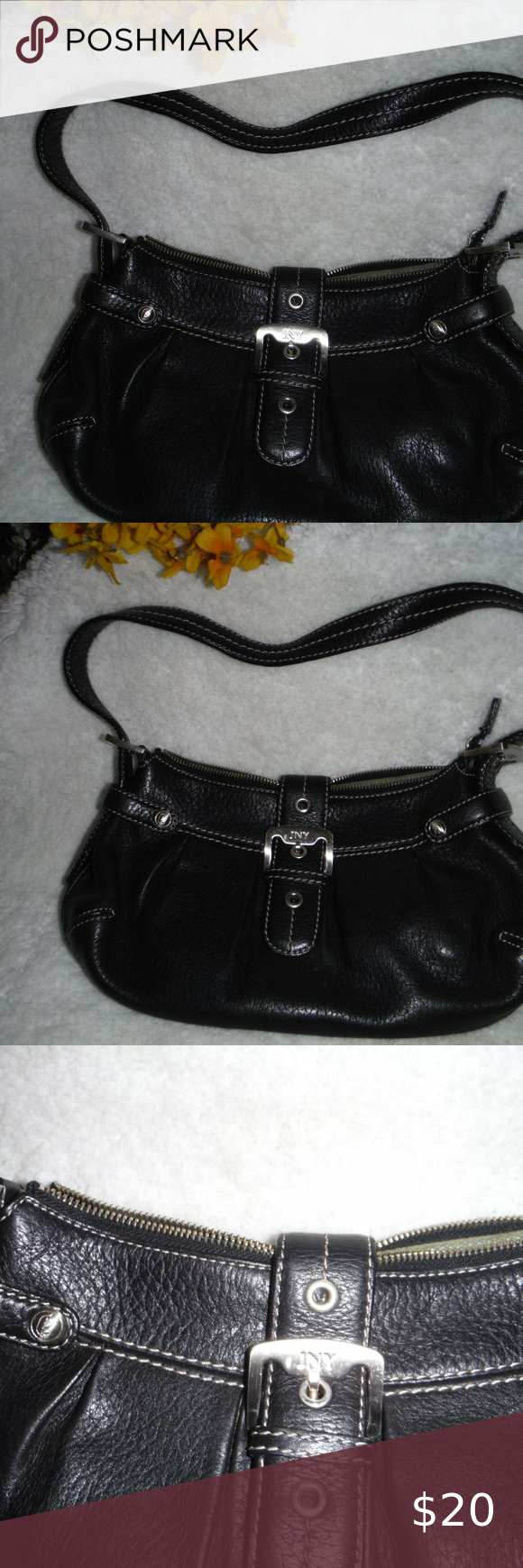 Photo of JNY  PURSE EUC  7X11 REAL LEATHER JNY Bags Shoulder Bags