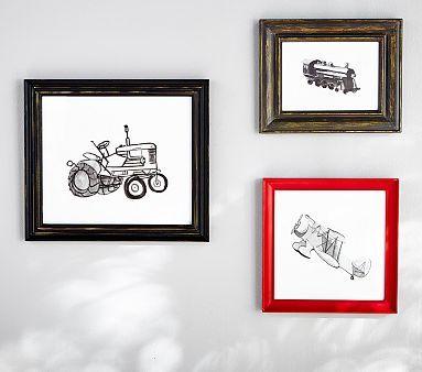Framed Transportation Drawings Set Of 3 Pbkids Http