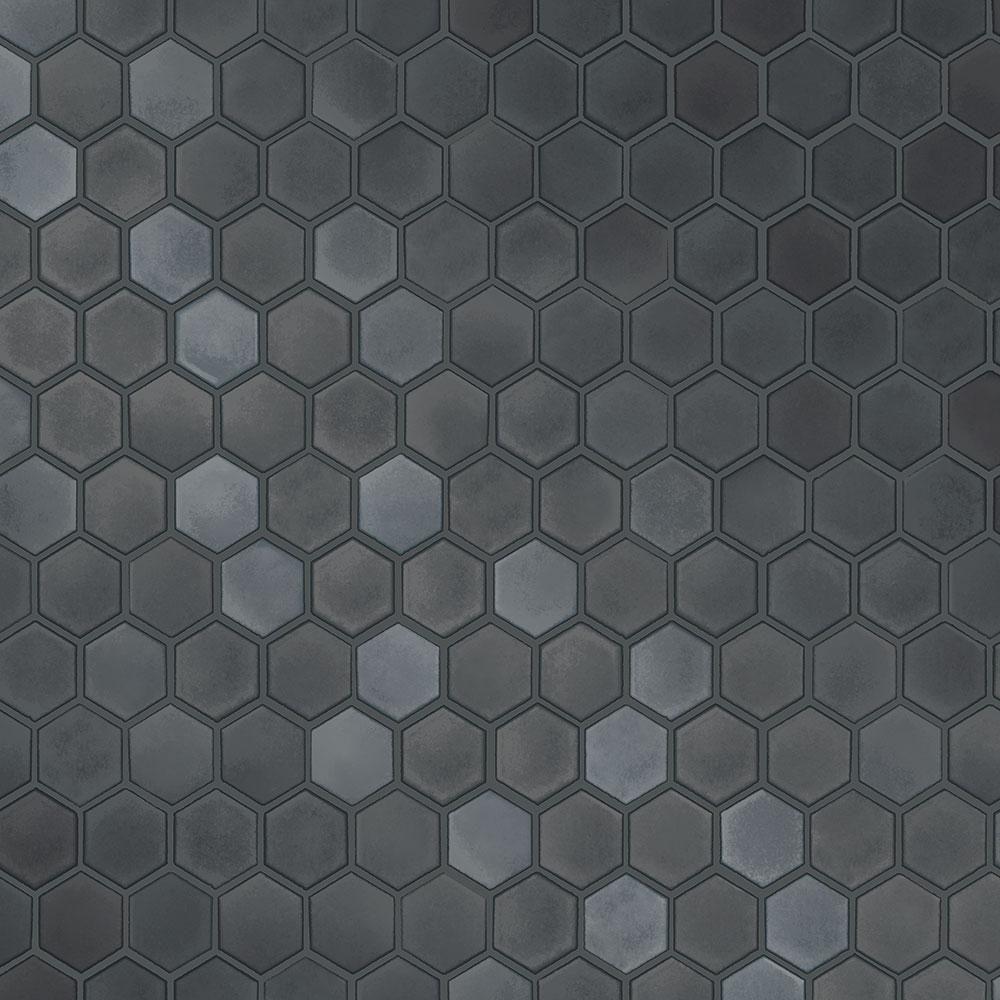 Tempaper Hexagon Tiles Gunmetal Vinyl Peelable Roll Covers 56 Sq Ft Hd596 The Home Depot Hexagon Tiles Peel And Stick Wallpaper Removable Wallpaper