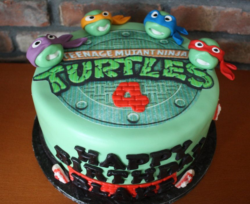 Cake Idea For Connor With Images Ninja Turtle Birthday Cake