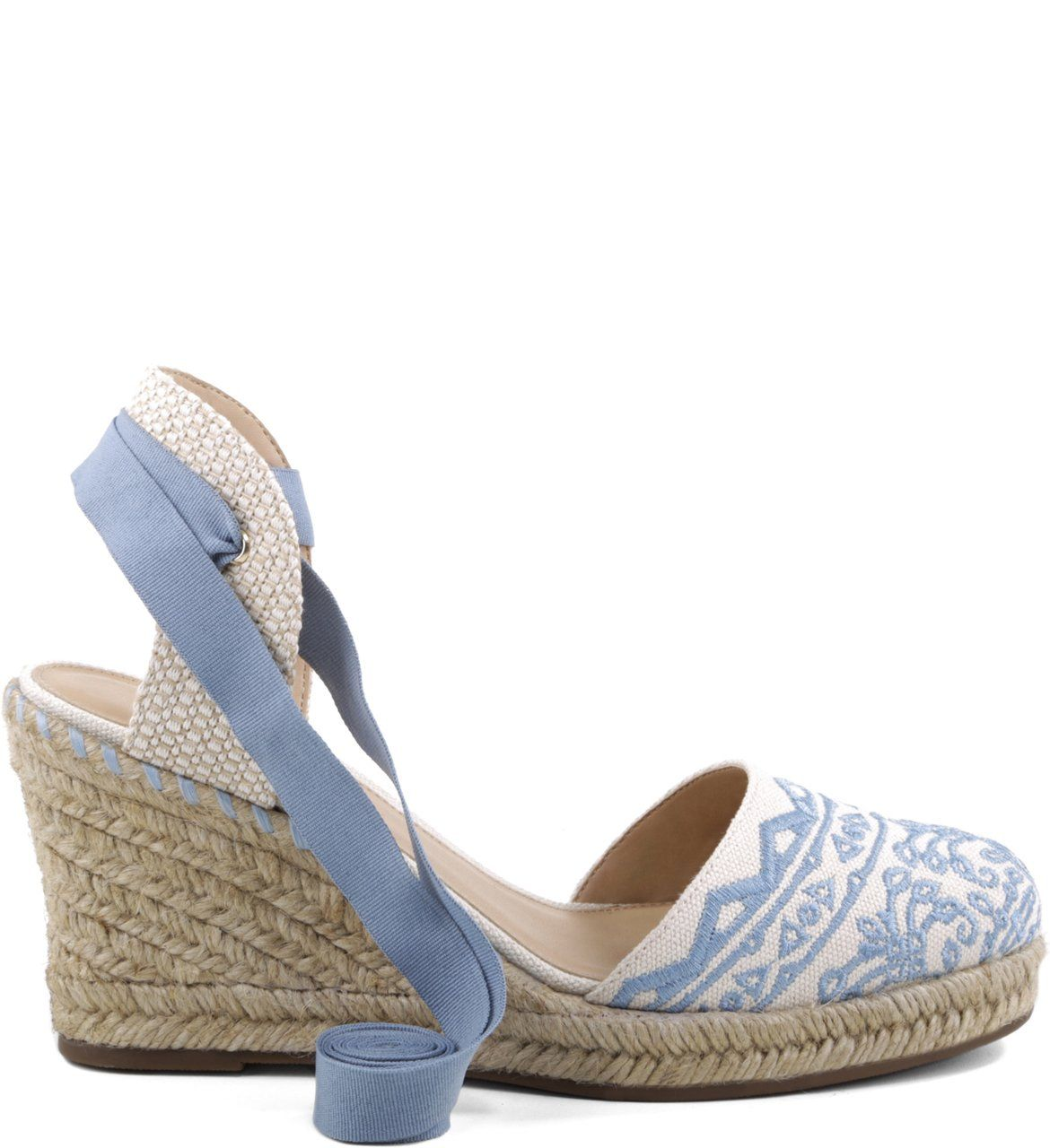 f94aee9ab Espadrille Lace-up Bordado Acqua | Arezzo | Female shoes | Sapatos ...