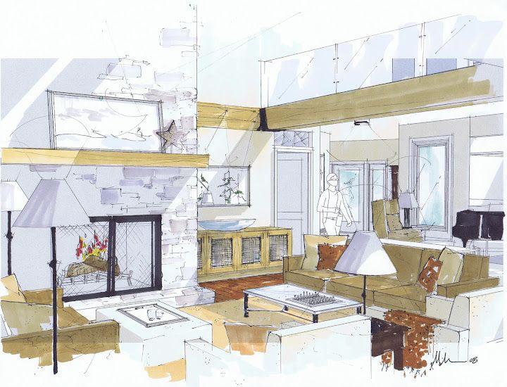 Beautiful Rendering By Michelle Morelan Interior Design