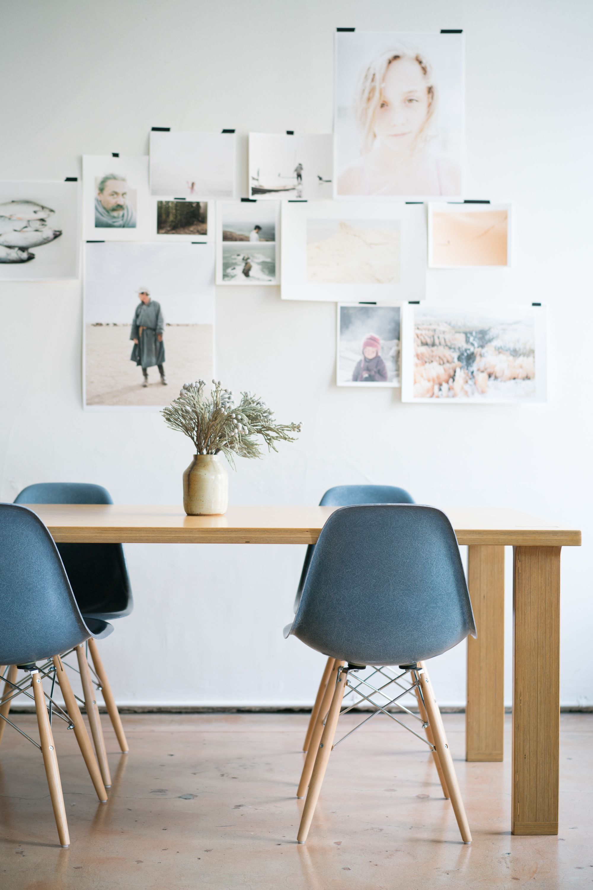Modernica Case Study Fiberglass Shell Chairs In Nantucket And Tenon Table