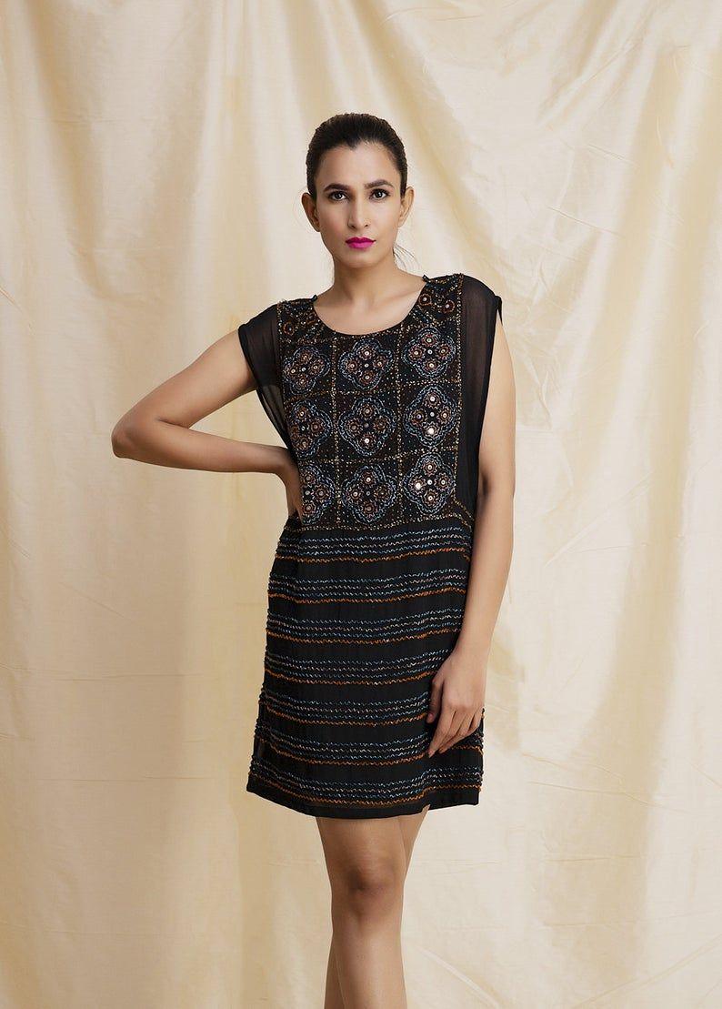 Effortless Glamour Black Hand Beaded Dress Beautiful Black Dresses Dresses Wonderful Dress [ 1109 x 794 Pixel ]