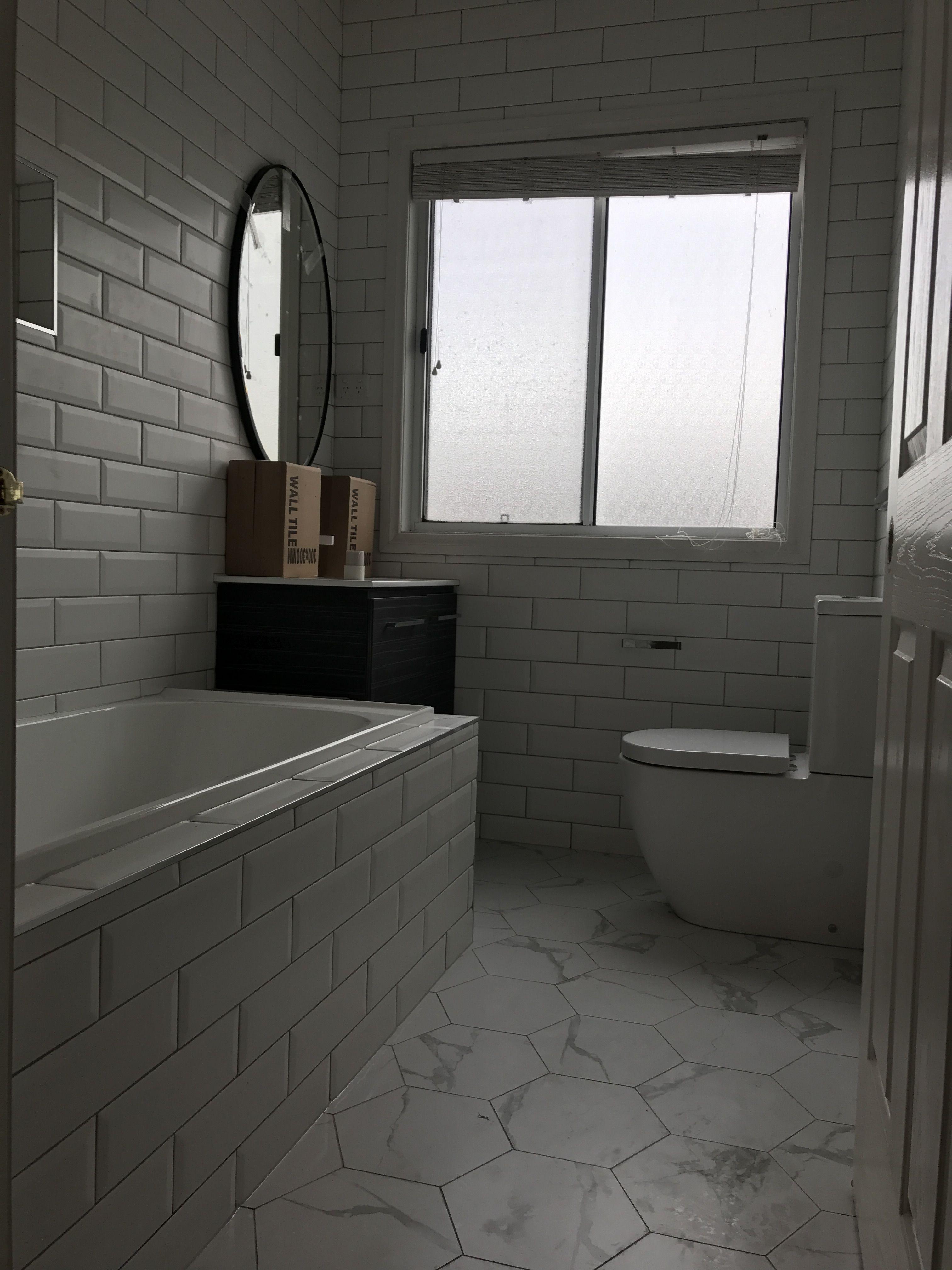 Hexagon Bathroom Feel Tiles Hexagon Renovation Bathroom