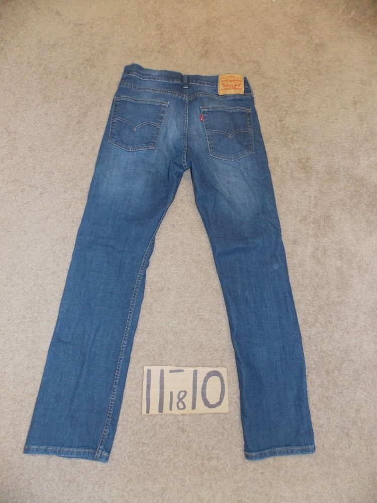 2ec77b59 LEVIS 513 SLIM STRAIGHT STRETCH BLUE JEANS 32X32 MEASURE 33X31…@ebay  @pinterest #loosejeans #tightjeans #hotpants #fashionjeans #sexyjeans