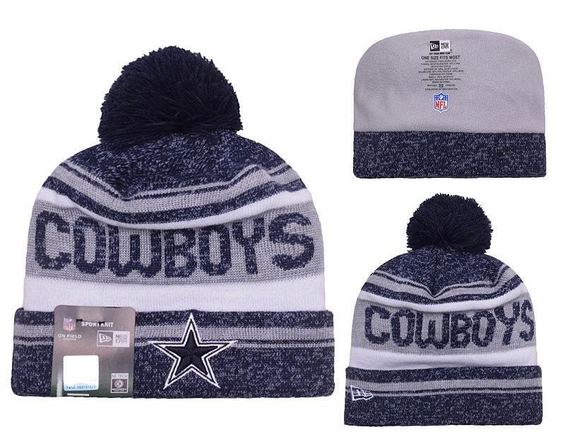 c5aded9674e ... wholesale mens womens dallas cowboys new era 2016 nfl snow dayz knit  pom pom beanie hat