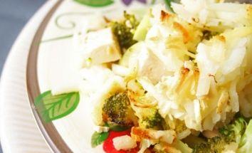 Savory Broccoli Hash Brown Casserole