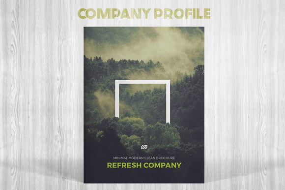 Refresh Company Profile Company profile, Adobe indesign and - profile templates