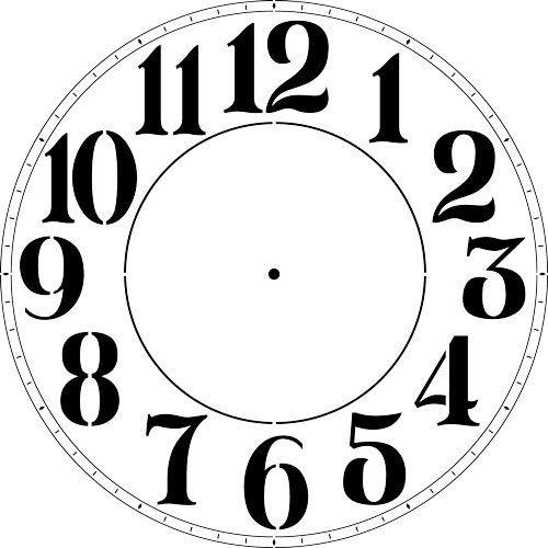 Modern Numeral Clock Stencil - (12 -40 Inch) 3744 by ...