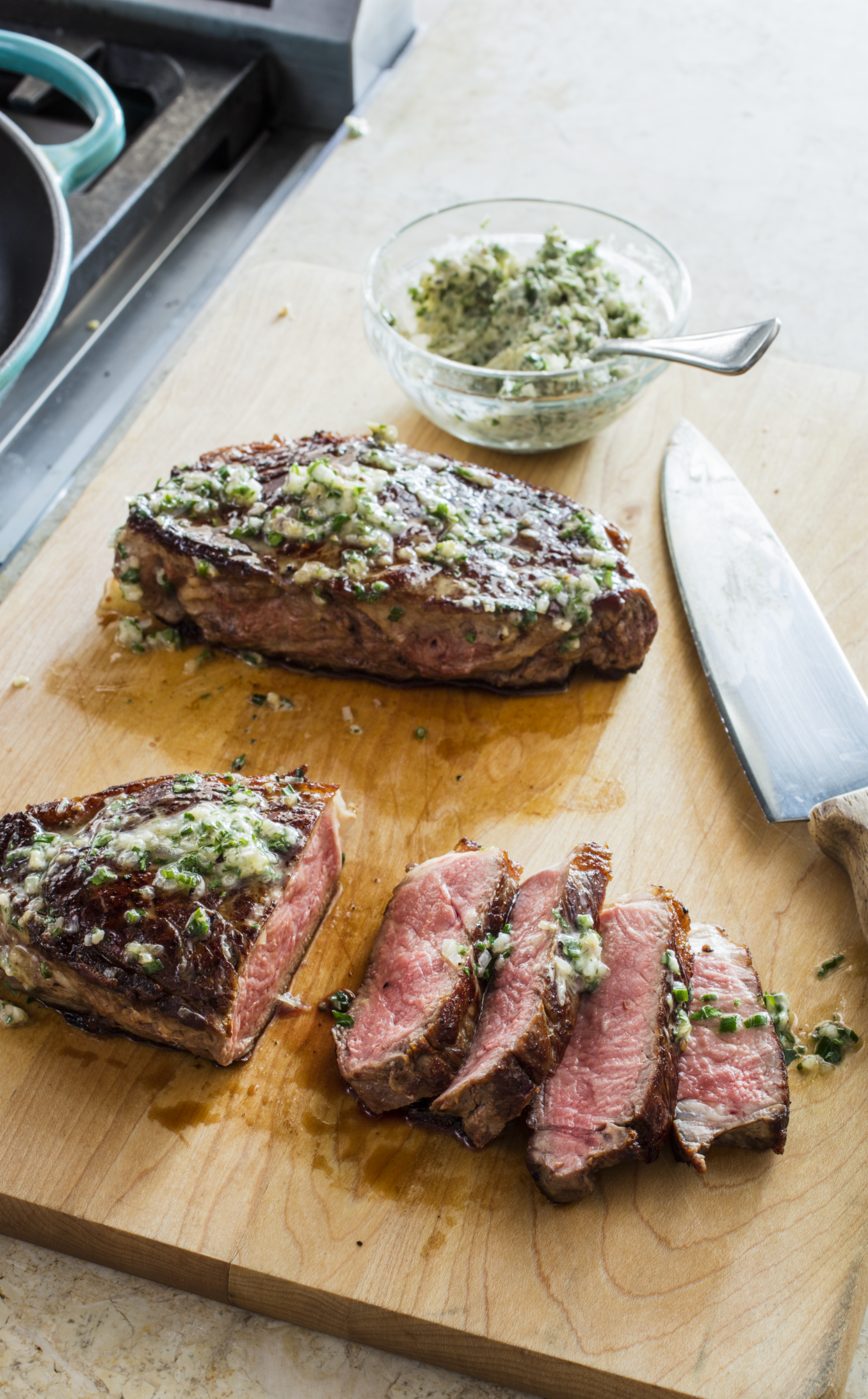 Americas Test Kitchen Cast Iron Steak Herb Butter