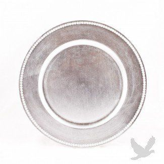 Silver Charger Plates BULK, Set of 24 - Fancy Plates, Wedding Party ...