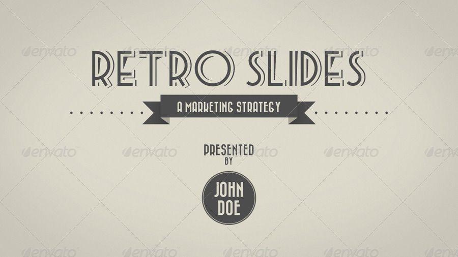 Retro Slides Powerpoint Template Widescreen Powerpoint Templates Templates Powerpoint