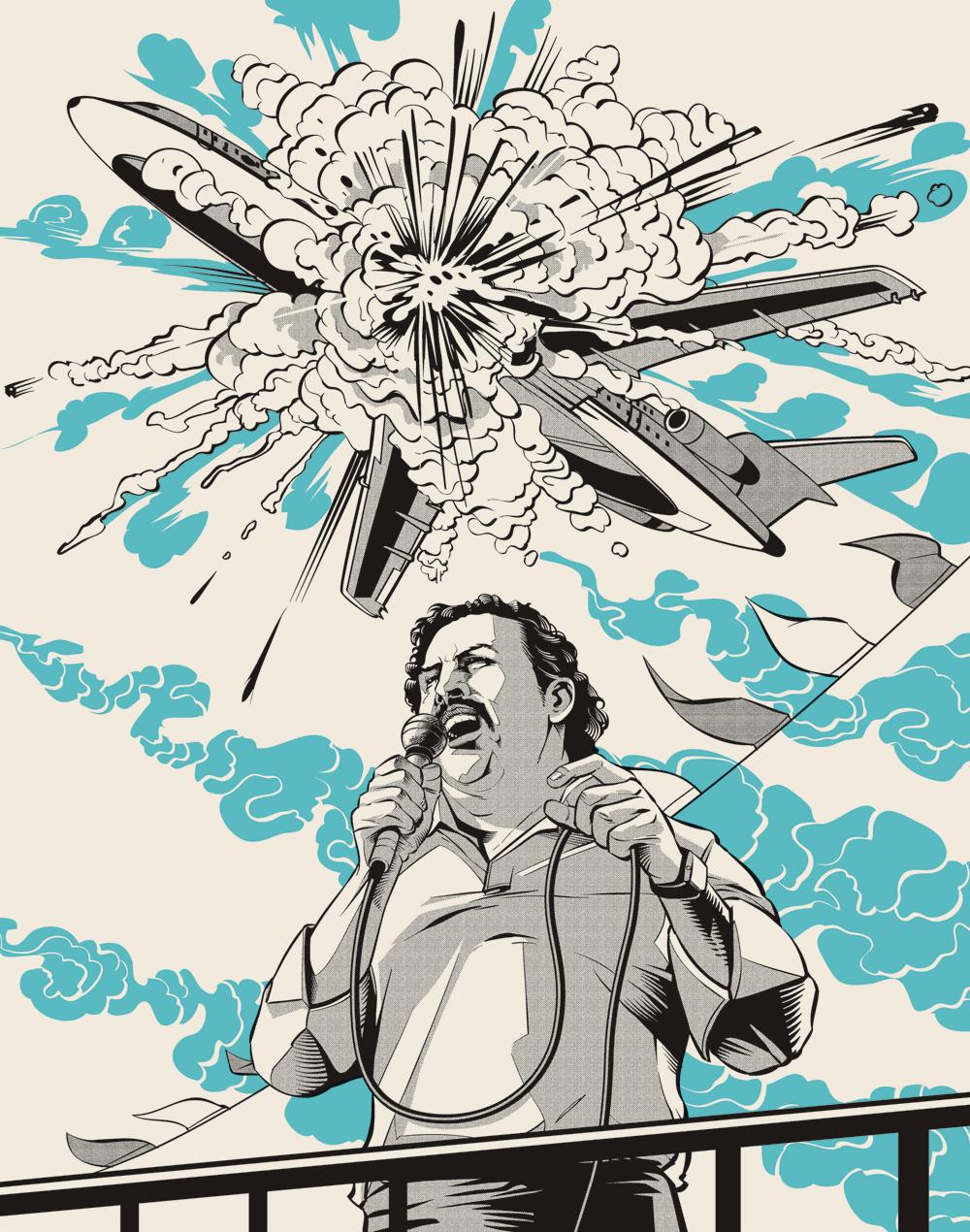 Poster Pablo Escobar Cizim