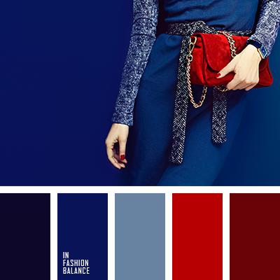 Цвет синий красный