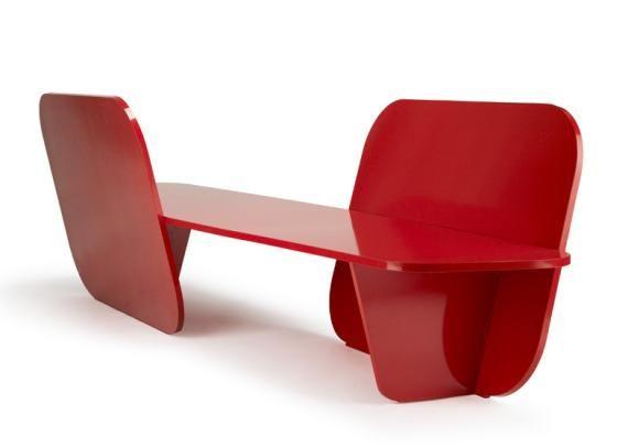 Banqueta - sitzbank rot designer möbel kollektion von la chance - designer mobel kollektion