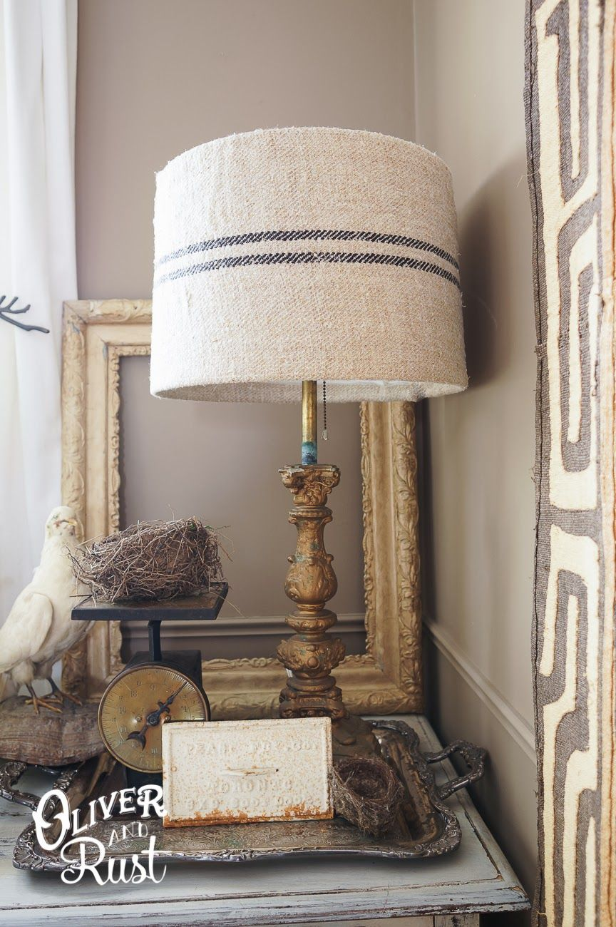 Oliver And Rust Grainsack Lampshade A Diy Lampenschirm Aus Stoff Lampenschirm Lampe