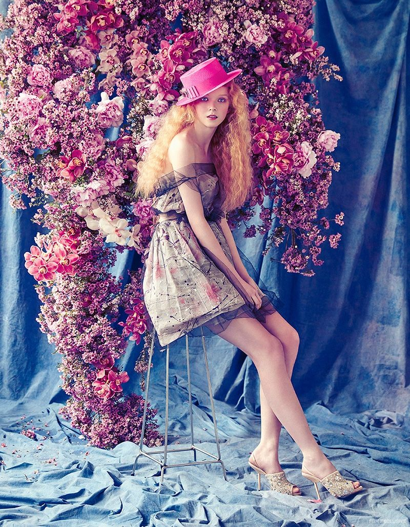 Dolce & Gabbana Couture Dress from Cose Ipanema, Philip Treacy Boater Hat from Christine, Rochas Shoes from Miss Louise