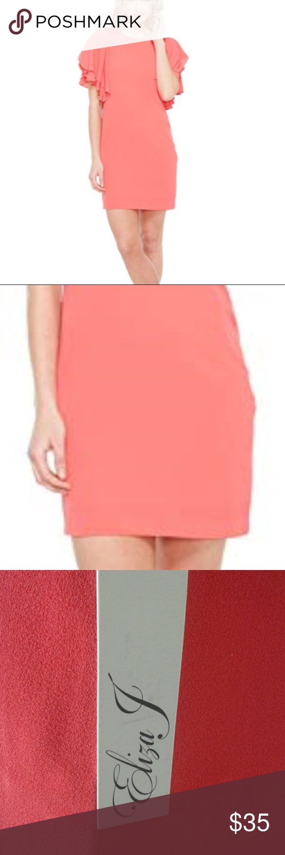 453bfb43cfe Vince Camuto sheath dress ruffle sleeve 4 New with tags msrp  148 vince  camuto sheath dress