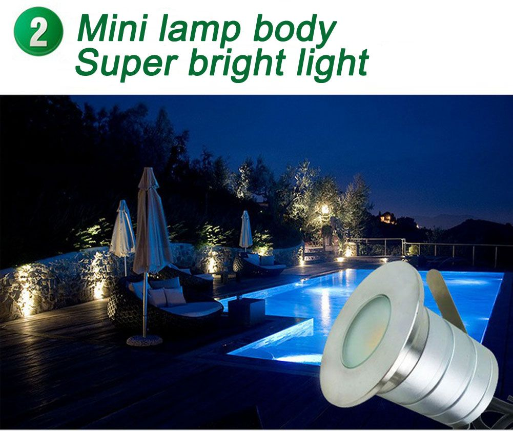 3w led outdoor landscape light ip67 waterproof 12v 24v recessed 3w led outdoor landscape light ip67 waterproof 12v 24v recessed stair garden walkway buried lighting fixture arubaitofo Image collections
