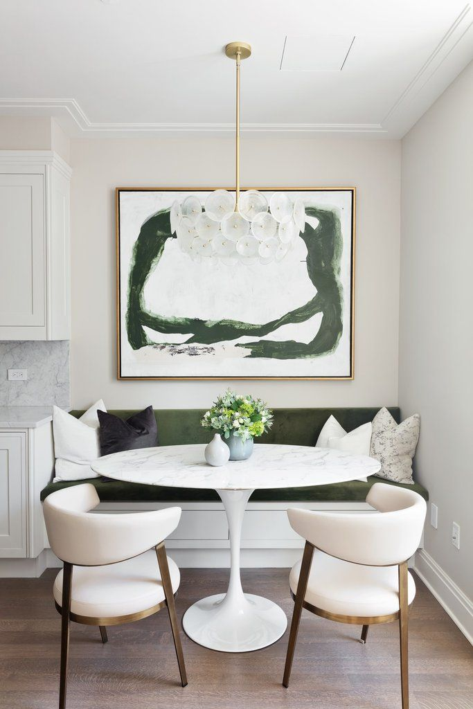 Astonishing Get The Look Upper West Side Breakfast Nook Black Rooster Squirreltailoven Fun Painted Chair Ideas Images Squirreltailovenorg