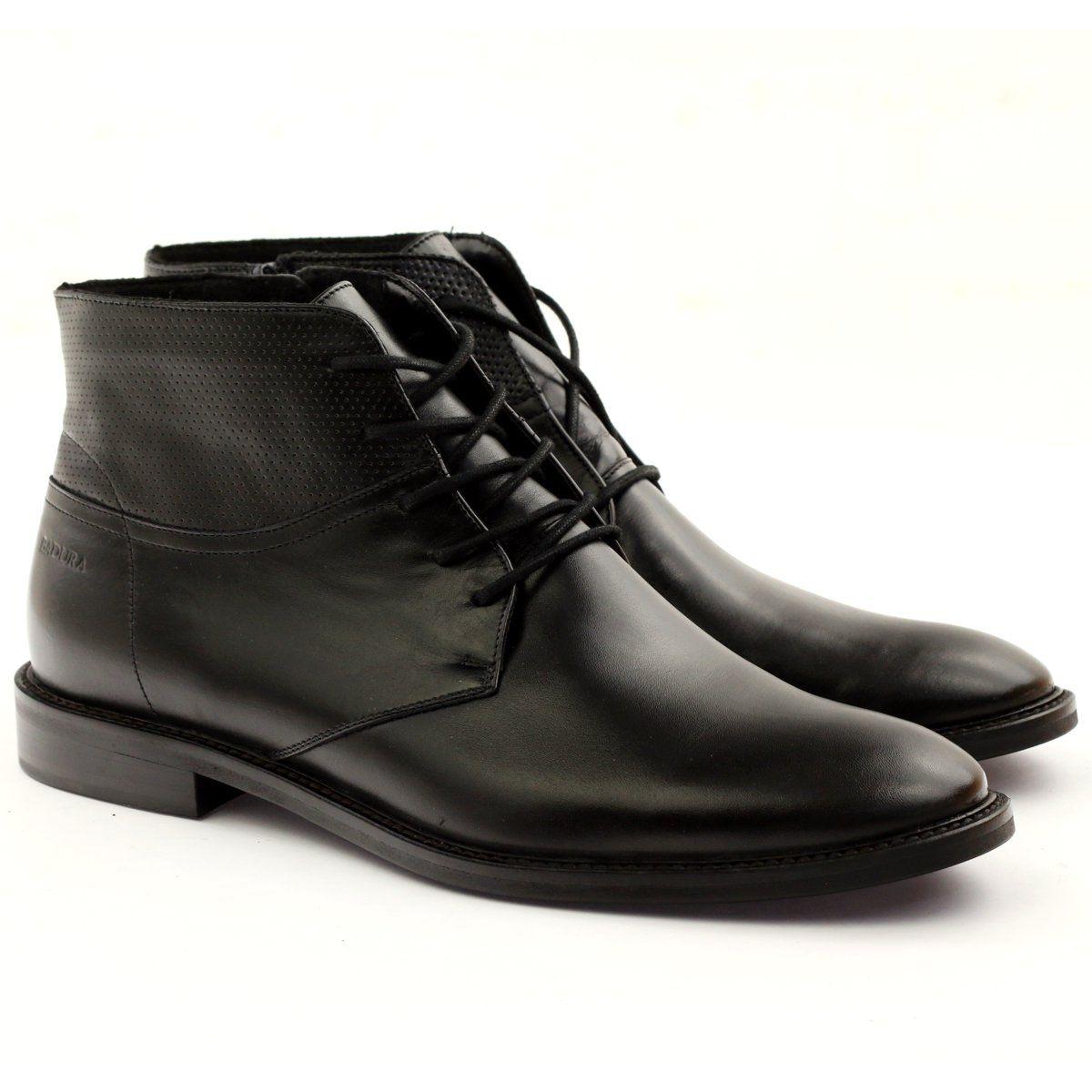 Trekkingowe Meskie Badura Botki Trzewiki Zimowe Badura 5258 Czarne Mens Boots Fashion Boots Men Chukka Boots