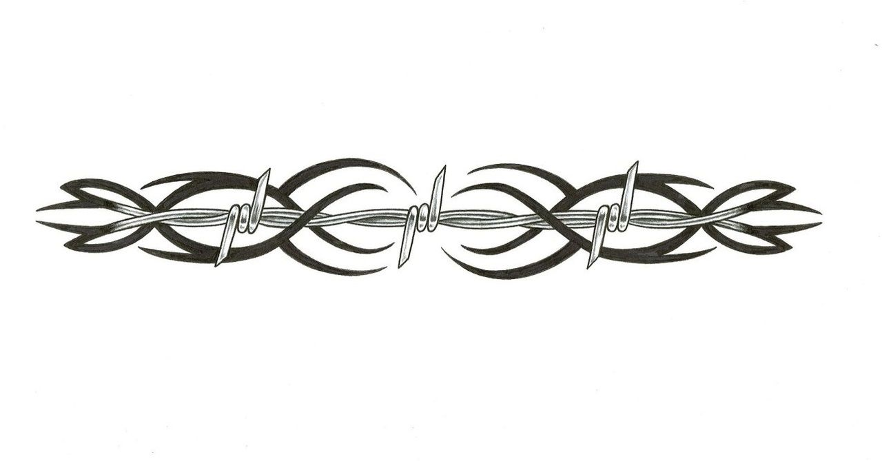 This digital photography of Barbwire Design Barb Wire Tattoo Designs ...